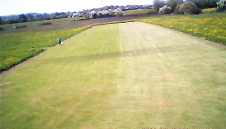 Our strip may look quite small from the air, but its not. This is a models eye view of our strip as it comes in to land